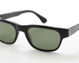Polished black with gray polarized lens