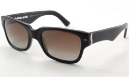 Matte black with brown/gray gradient lens