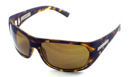 Rubberized marble tortoise with brown polarized lens