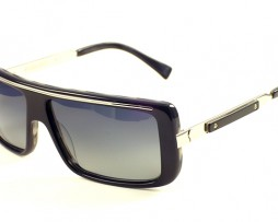 Black horn with gray polarized lens