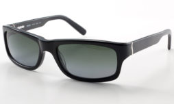 Black with green gradient polarized lens