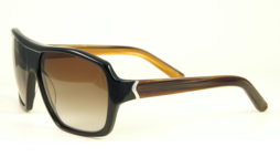 Black/bourbon with brown gradient lens